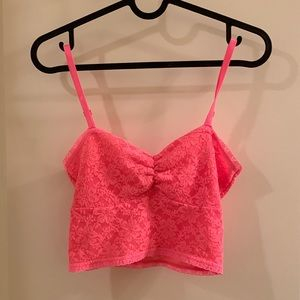 Hot pink lacy bralette